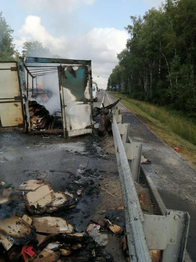 «ГАЗель» сгорела в Лысковском районе - фото 2