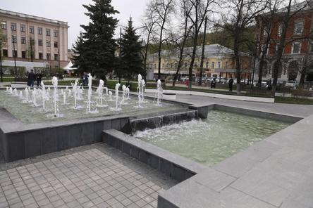 Музыкальный фонтан на площади Маркина открылся после реконструкции