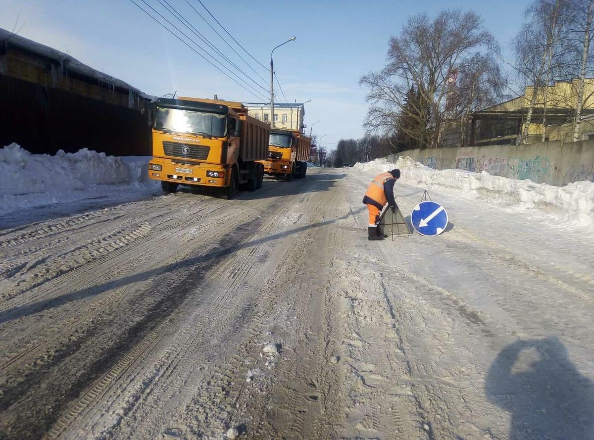 Названы улицы Приокского района, где уберут снег в выходные - фото 1