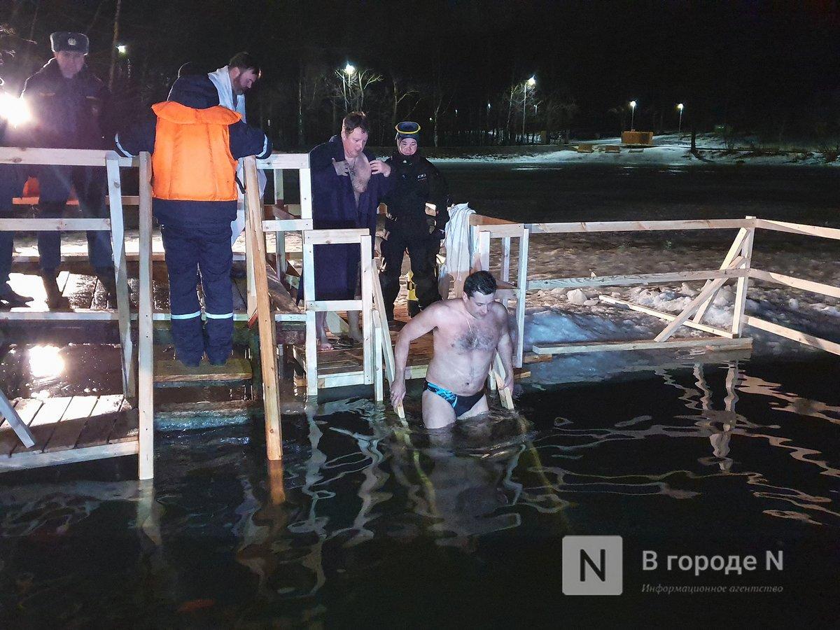 Глеб Никитин окунулся в крещенскую прорубь на Щелоковском хуторе - фото 2