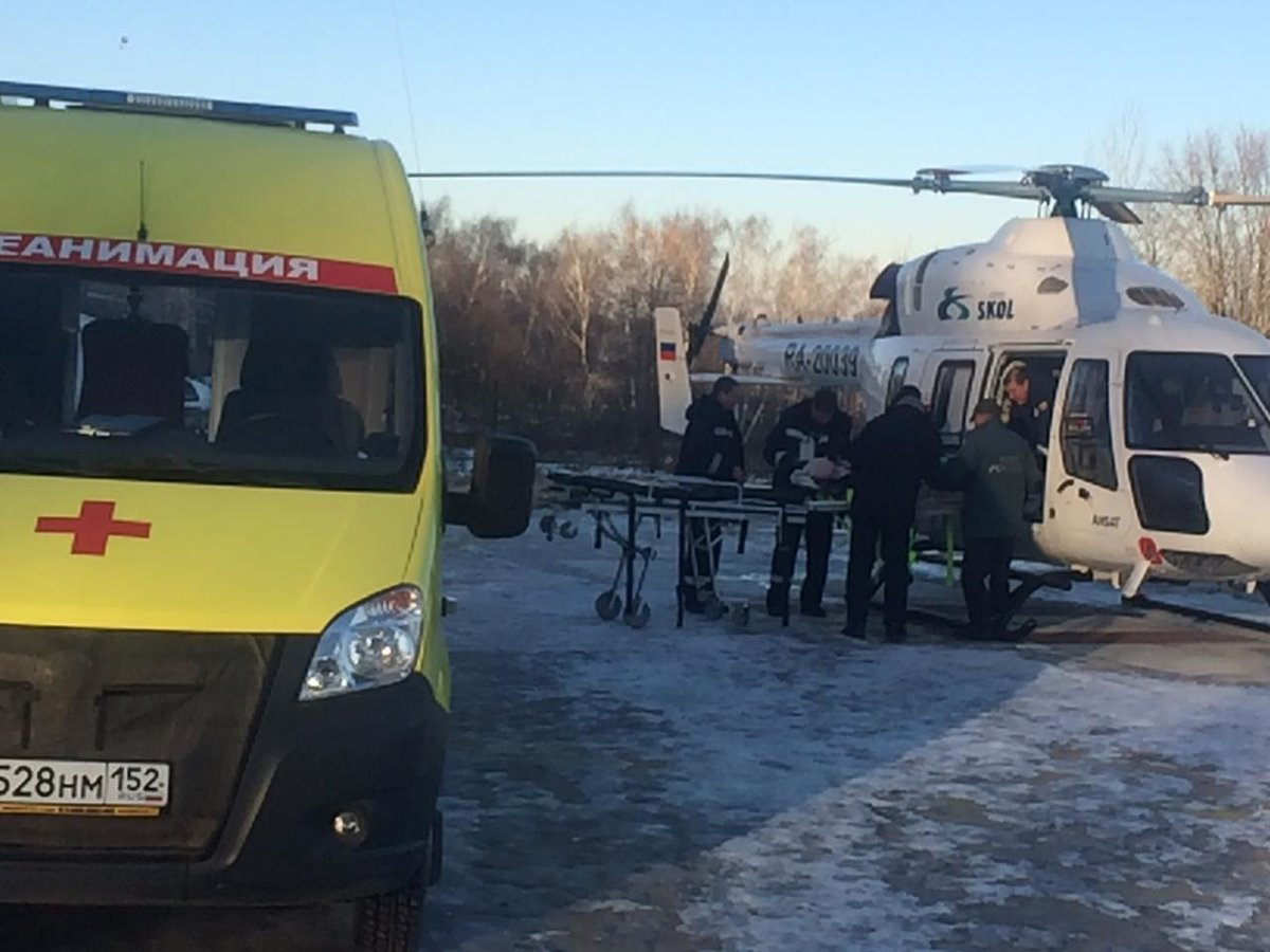 Жителя Уреня, пострадавшего в аварии на снегоходе, эвакуировали на вертолете