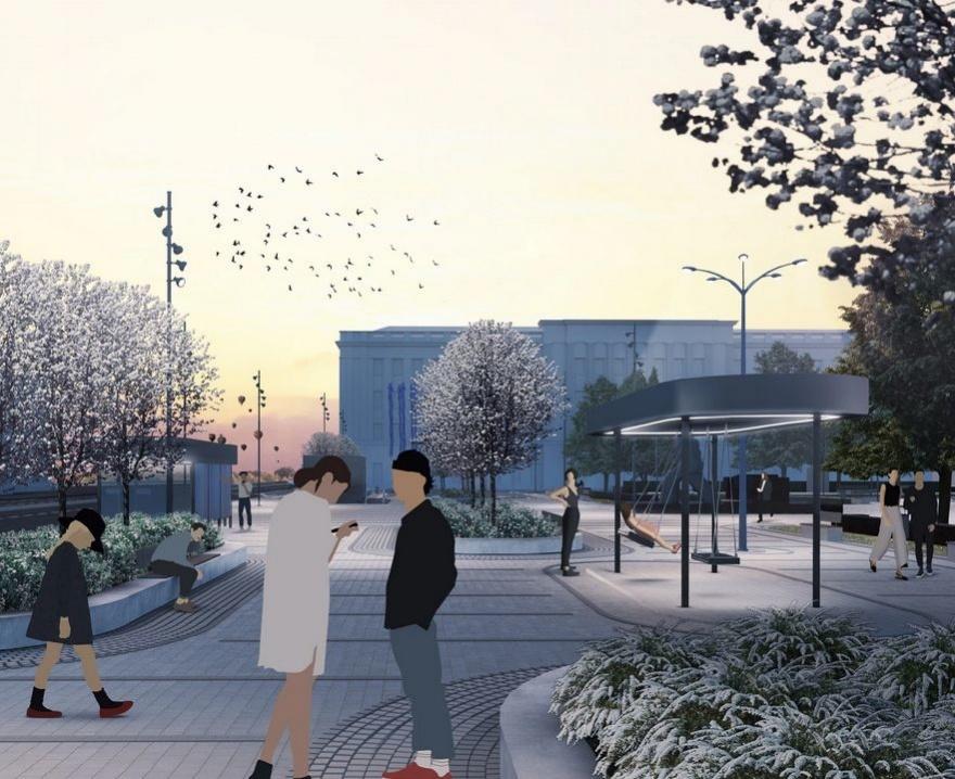 Приемку сквера Свердлова и площади Маркина снова отложили - фото 1