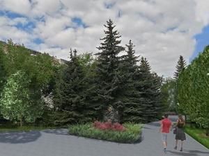 Прогулочная зона и новые клумбы появятся в сквере «Выставка цветов» в Московском районе
