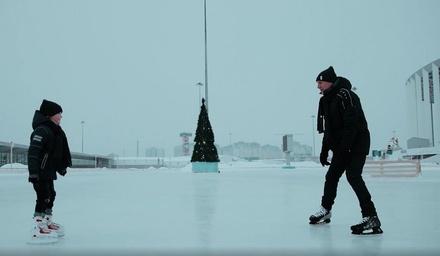 Ролик о вере в чудо сняли на катке «Зимняя сказка» в Нижнем Новгороде