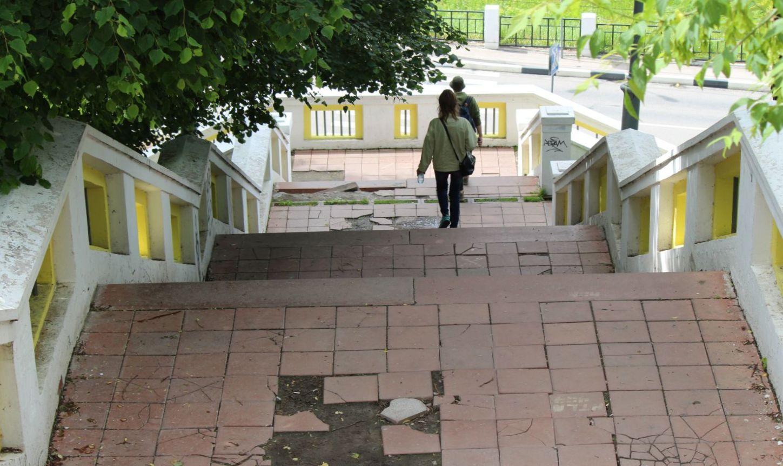 Театральную лестницу вНижнем Новгороде починят за1 млн руб.