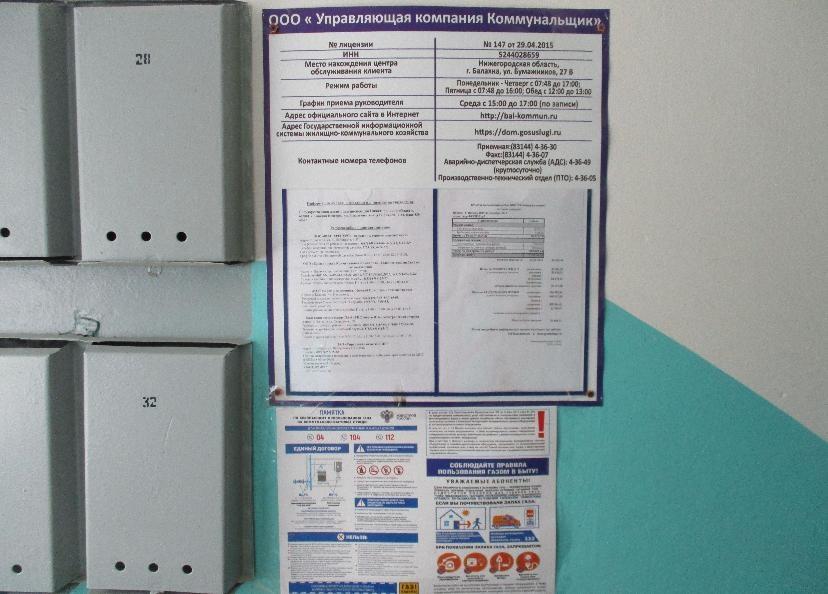 Памятки об использовании газа разместят во всех подъездах Нижегородской области - фото 1