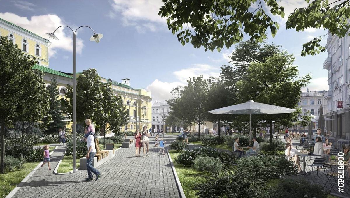 Деревья в кадках и новые скверы: как преобразится улица Большая Покровская - фото 6